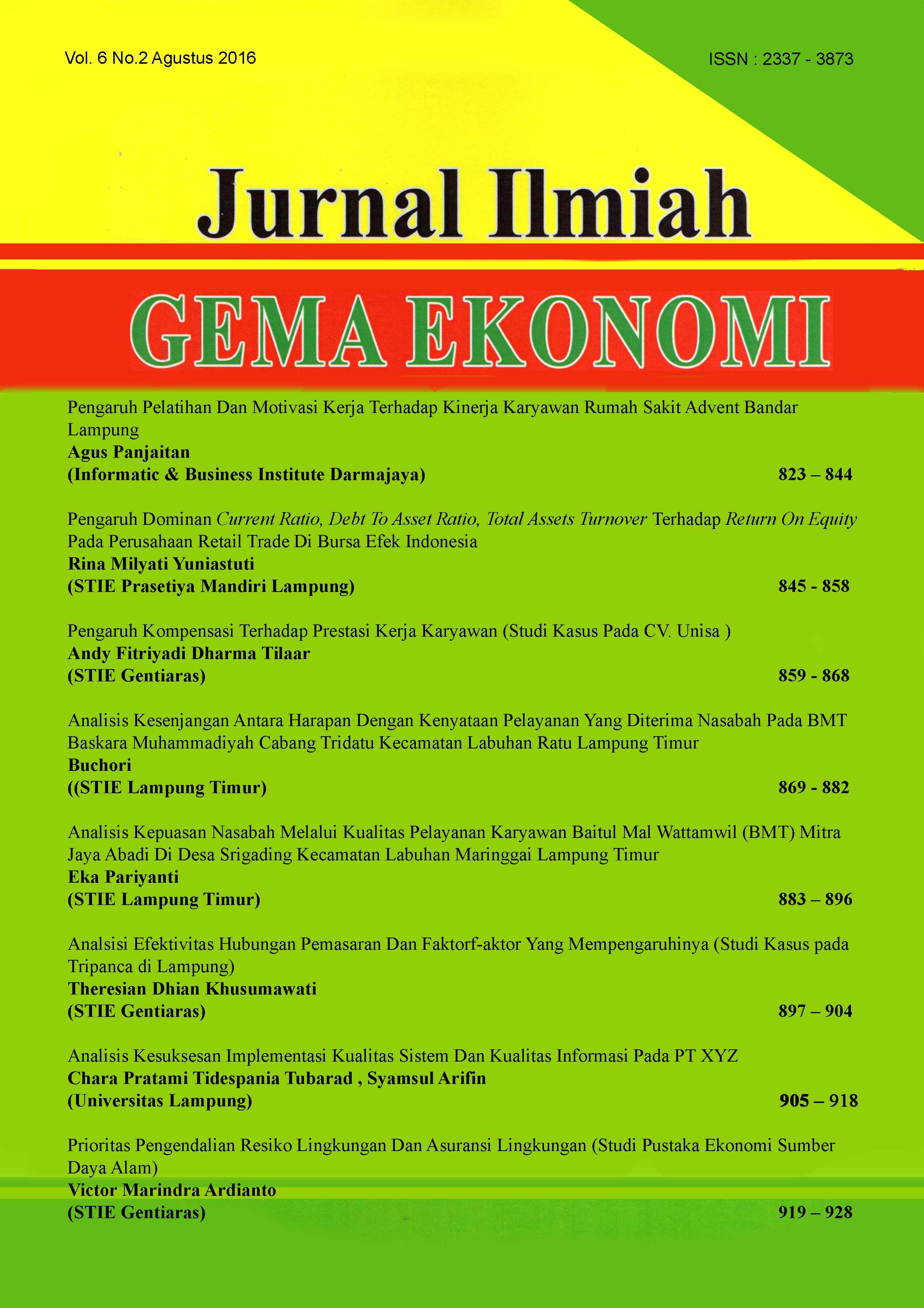 Analisis kesenjangan antara harapan dengan kenyataan pelayanan yang pdf bahasa indonesia ccuart Images